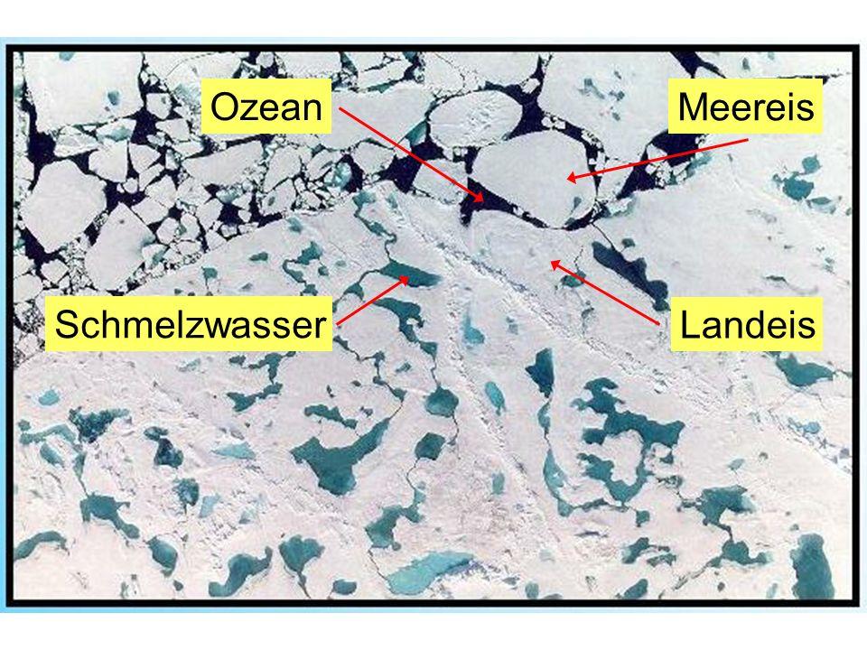 Ozean Schmelzwasser Meereis Landeis