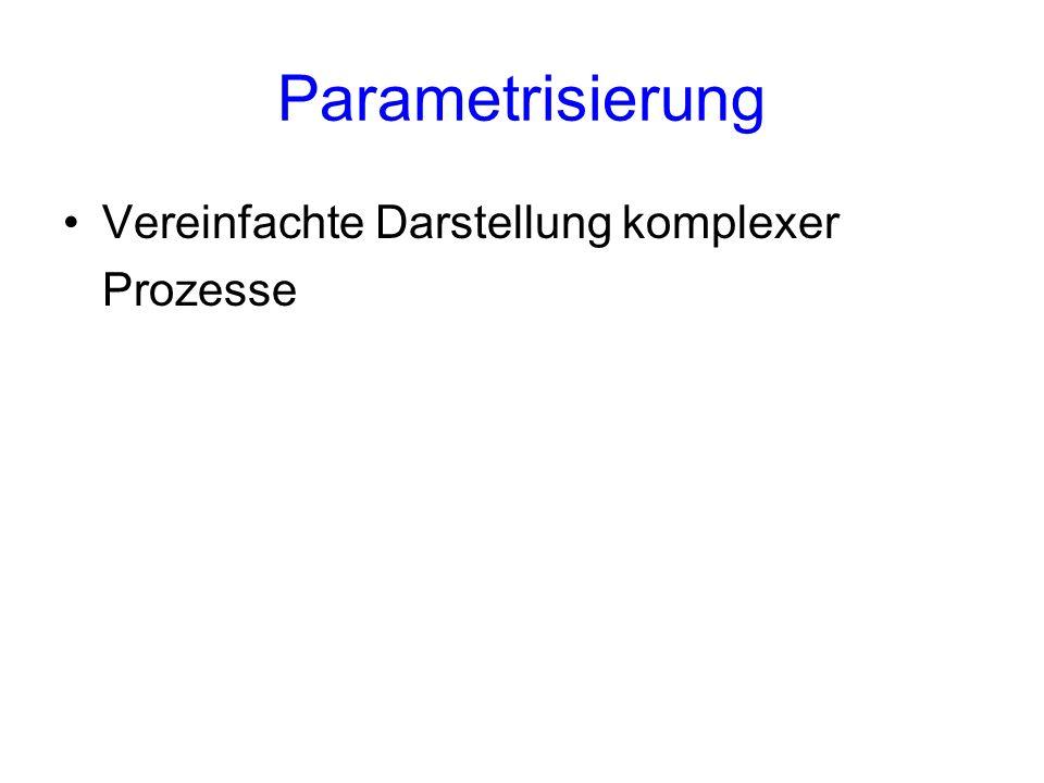 Parametrisierung Vereinfachte Darstellung komplexer Prozesse