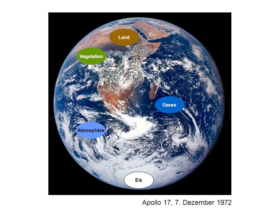 Vegetation Atmosphäre Eis Ozean Land Apollo 17, 7. Dezember 1972