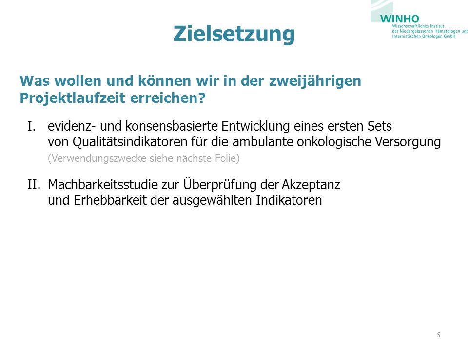 Machbarkeitsstudie Schriftliche Befragung der Ärzte aller WINHO-Praxen (ggf.