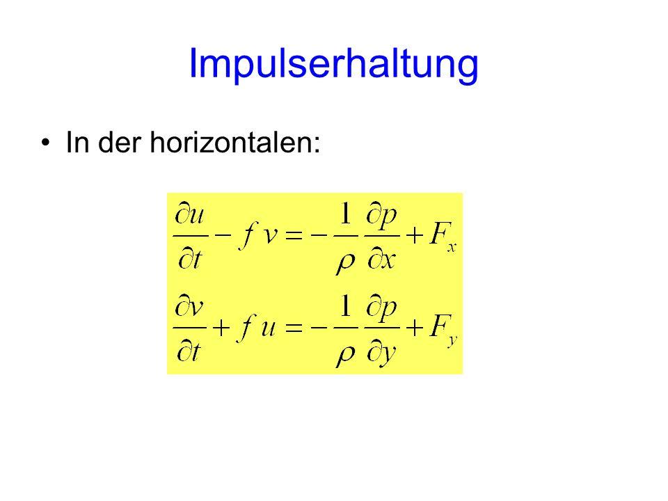 Impulserhaltung In der horizontalen: