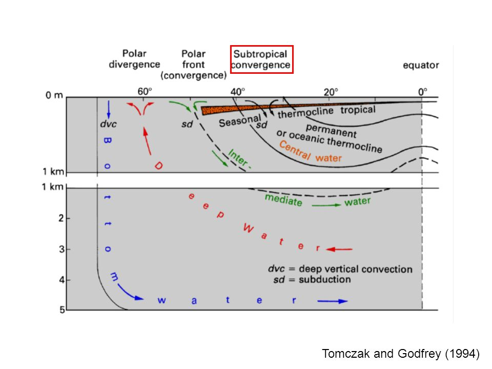 Vertical-meridional streamfunction: A measure of the meridional overturning circulation Common unit of is a Sverdrup with 1 Sv = 10 6 m 3 s -1.