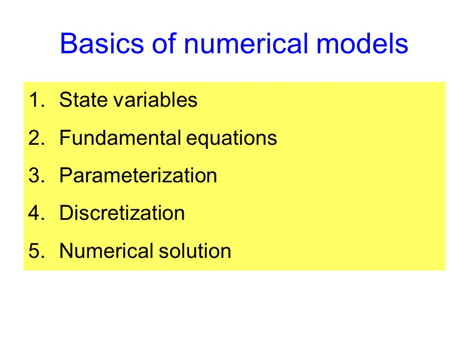 State variables Many variables can be thought of as a concentration or property per unit volume.