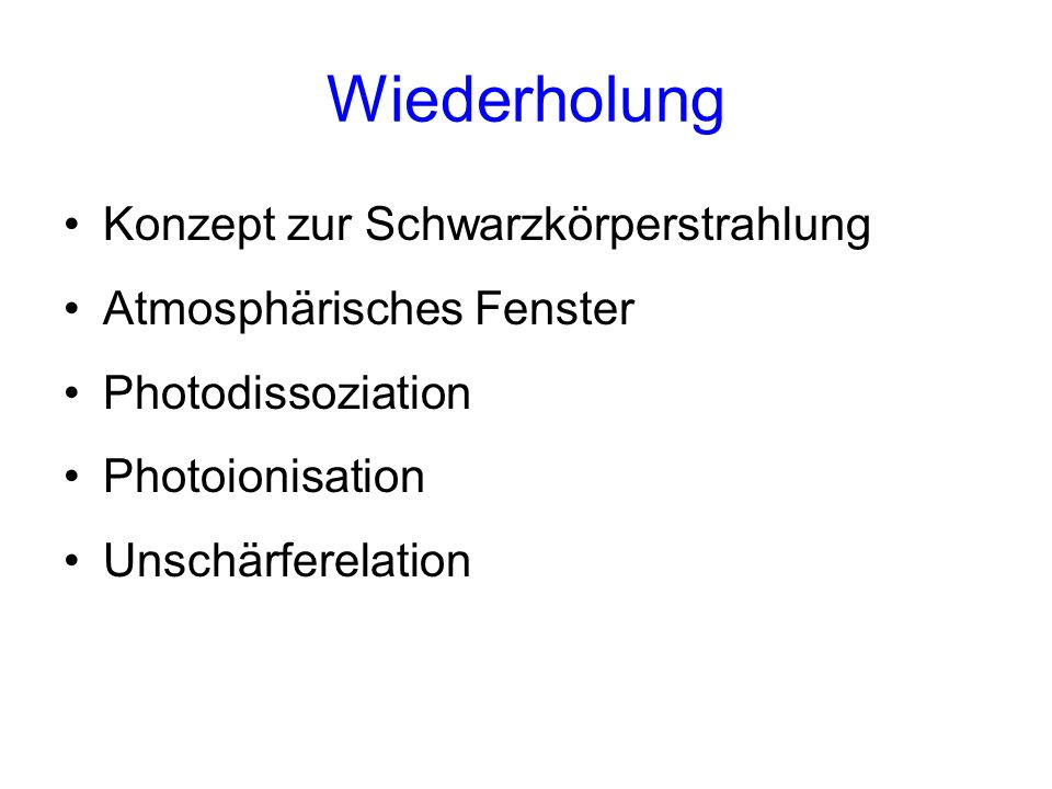 http://hyperphysics.phy-astr.gsu.edu/hbase/hframe.html Konzept zur Schwarzkörperstrahlung