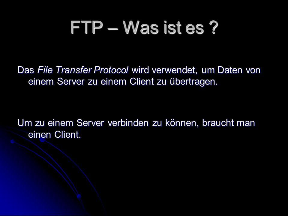 FTP – Was ist es .