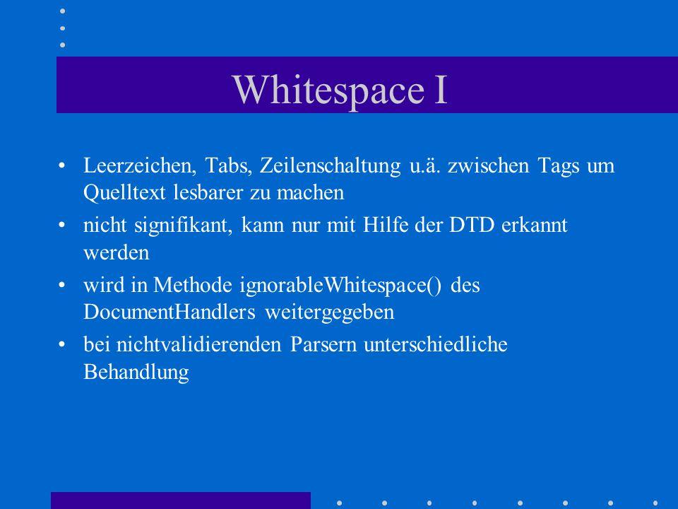 Whitespace I Leerzeichen, Tabs, Zeilenschaltung u.ä.