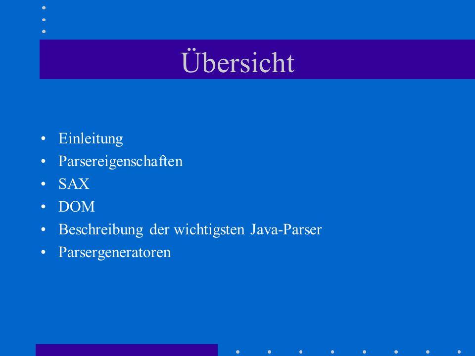 resolveEntity() unparsedEntityDecl() notationDecl() Entity Resolver DTDHandler