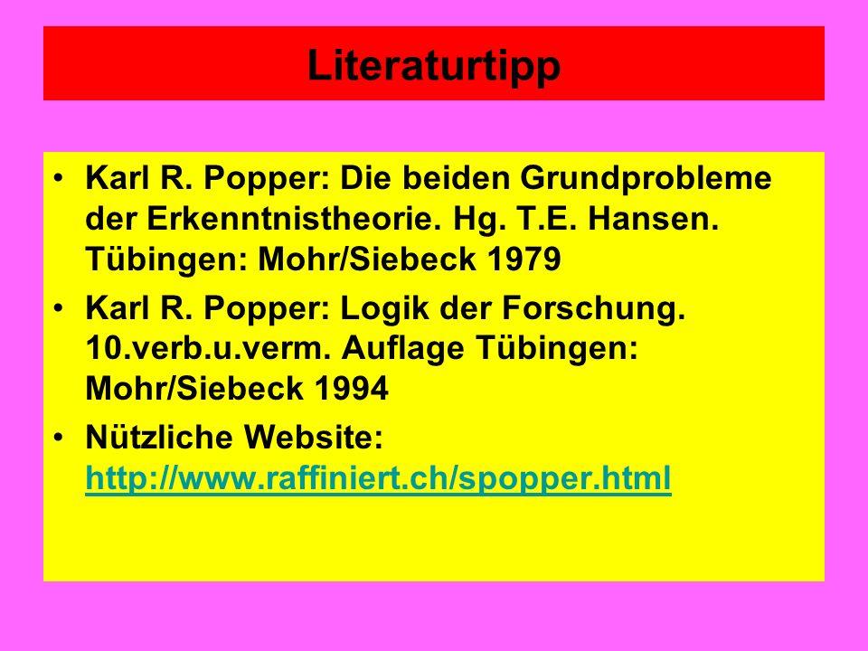 Literaturtipp Theodor W.Adorno: Der Positivismusstreit in der deutschen Soziologie.