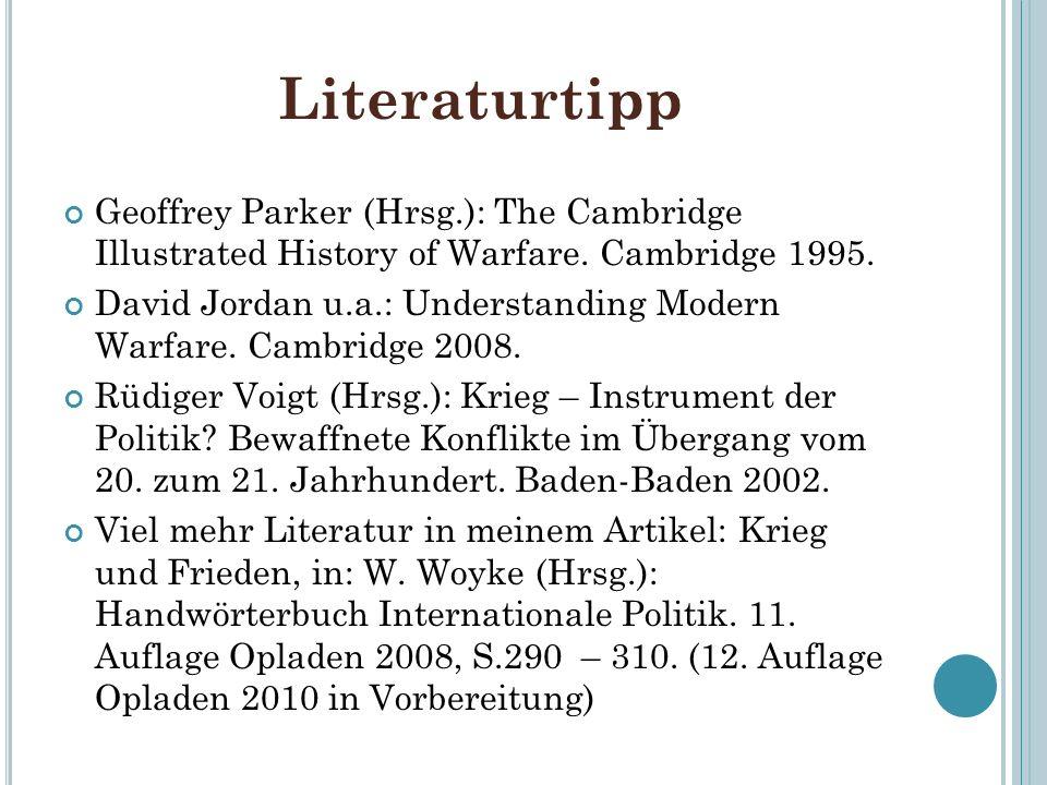 Literaturtipp Geoffrey Parker (Hrsg.): The Cambridge Illustrated History of Warfare.
