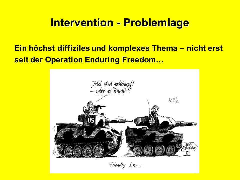 Intervention - Problemlage Ein höchst diffiziles und komplexes Thema – nicht erst seit der Operation Enduring Freedom…