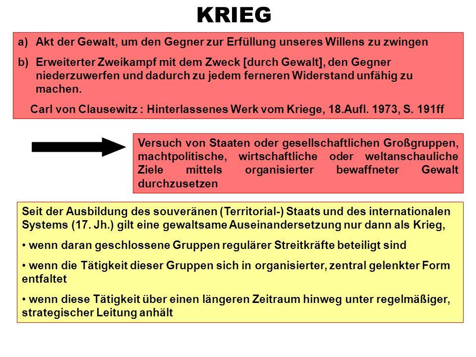 Literaturtipp statt vieler weiterer Nennungen: Reinhard Meyers, Krieg und Frieden, in: Hanns J.