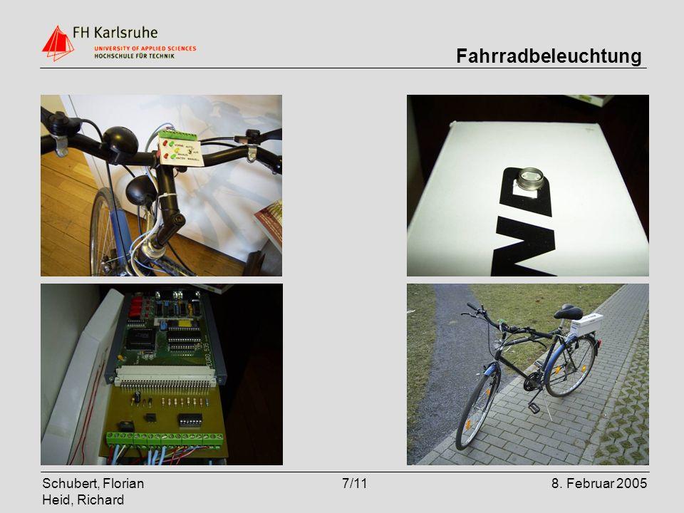 Schubert, Florian Heid, Richard 7/118. Februar 2005 Fahrradbeleuchtung