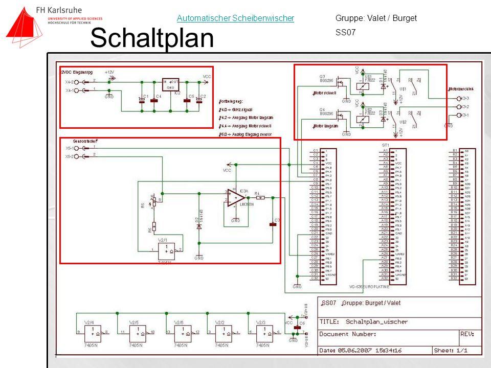 8 Schaltplan Gruppe: Valet / Burget SS07 Automatischer Scheibenwischer