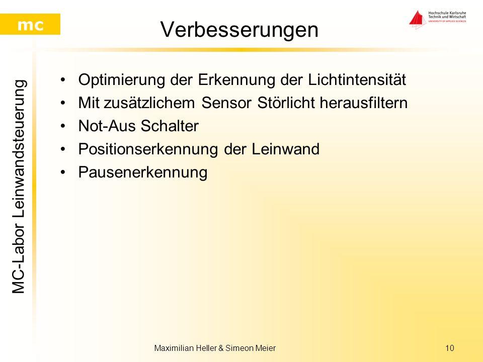 MC-Labor Leinwandsteuerung mc Maximilian Heller & Simeon Meier9 Quellcode