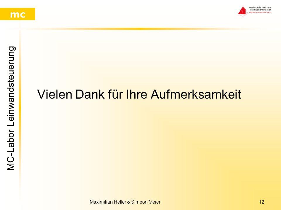 MC-Labor Leinwandsteuerung mc Maximilian Heller & Simeon Meier11 Ergebnis