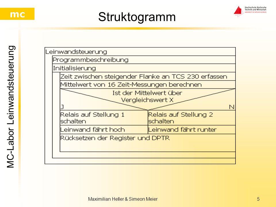 MC-Labor Leinwandsteuerung mc Maximilian Heller & Simeon Meier4 Lichtsensor TCS 230