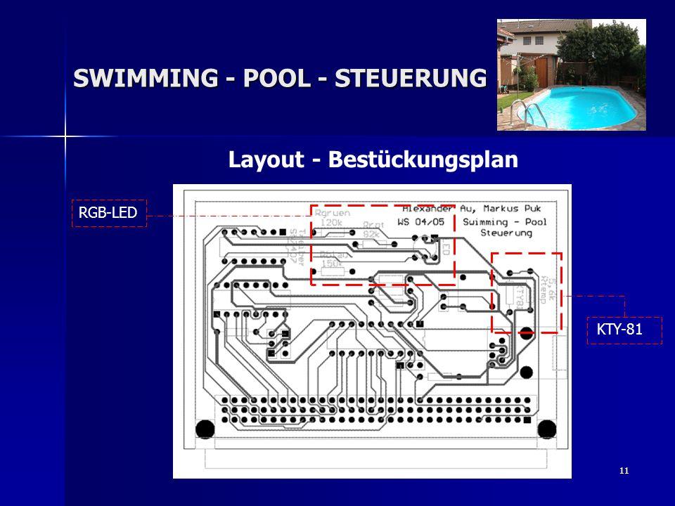 11 Layout - Bestückungsplan SWIMMING - POOL - STEUERUNG RGB-LED KTY-81