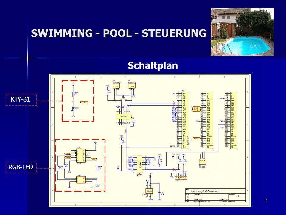 9 Schaltplan SWIMMING - POOL - STEUERUNG RGB-LED KTY-81