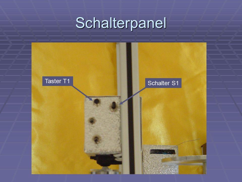 Schalterpanel Taster T1 Schalter S1