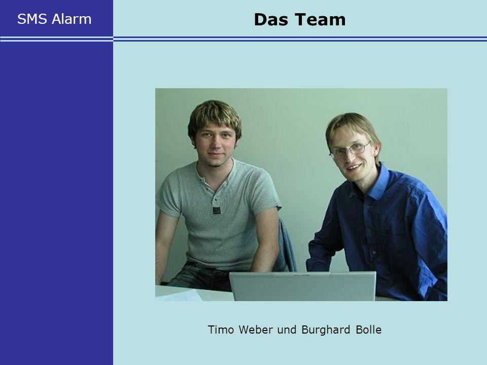 SMS Alarm Das Team Timo Weber und Burghard Bolle