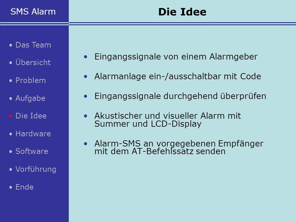 Eingangssignale von einem Alarmgeber Alarmanlage ein-/ausschaltbar mit Code Eingangssignale durchgehend überprüfen Akustischer und visueller Alarm mit