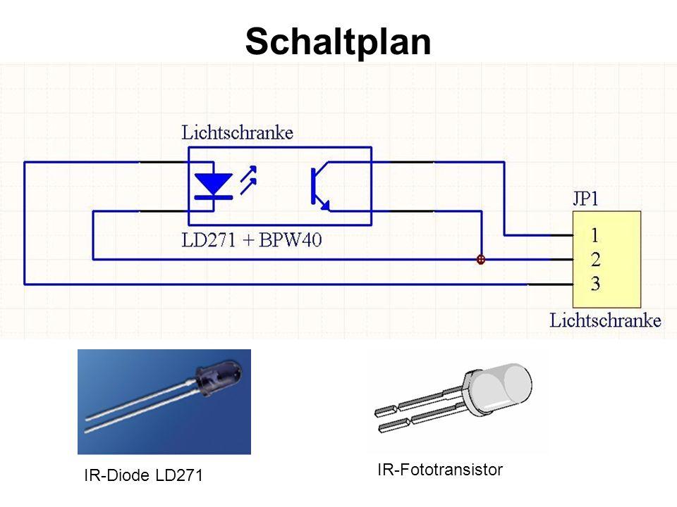 Schaltplan IR-Fototransistor IR-Diode LD271