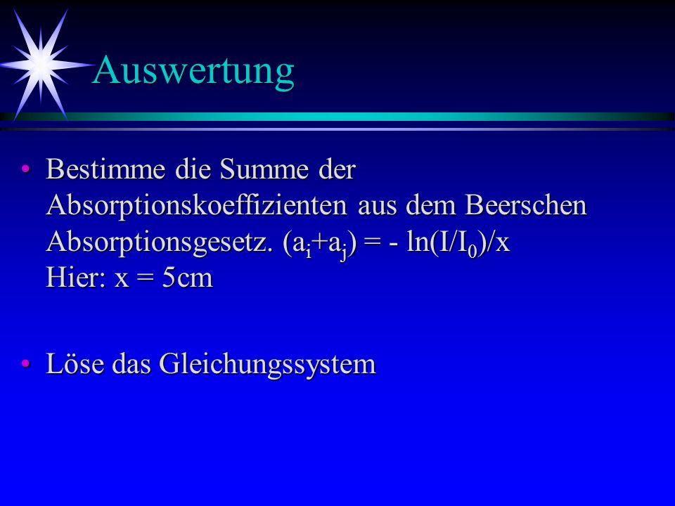 Messwerte/Auswertung Lösung Nr.