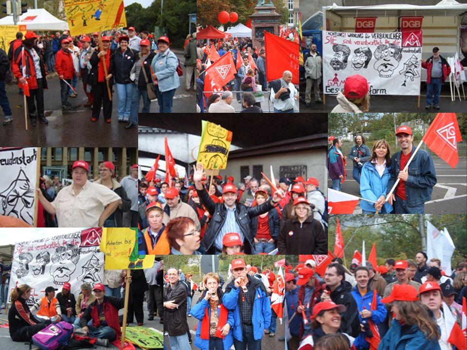 Die Kolleginnen und Kollegen der IG Metall – Freudenstadt setzen sich für eine solidarische Reformpolitik ein !