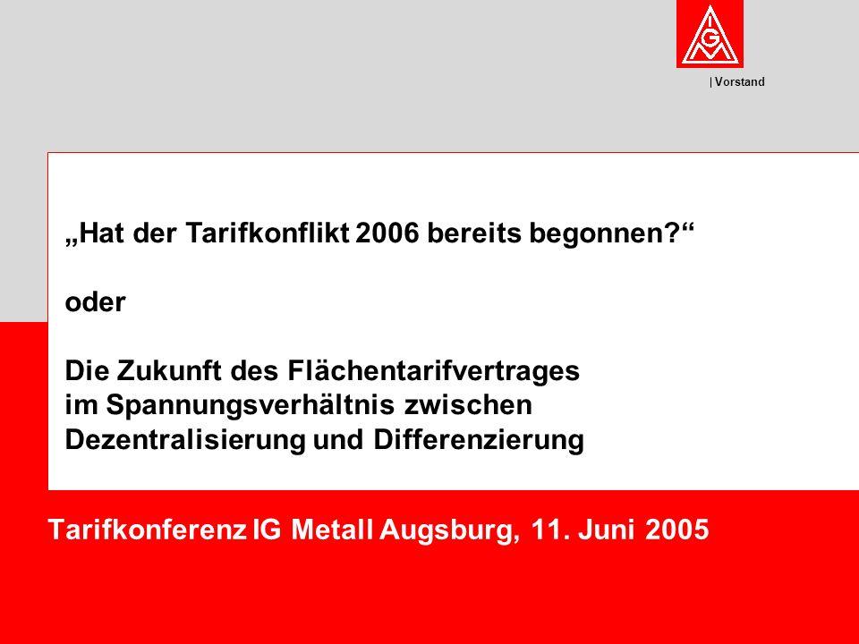 Vorstand Tarifkonferenz IG Metall Augsburg, 11.