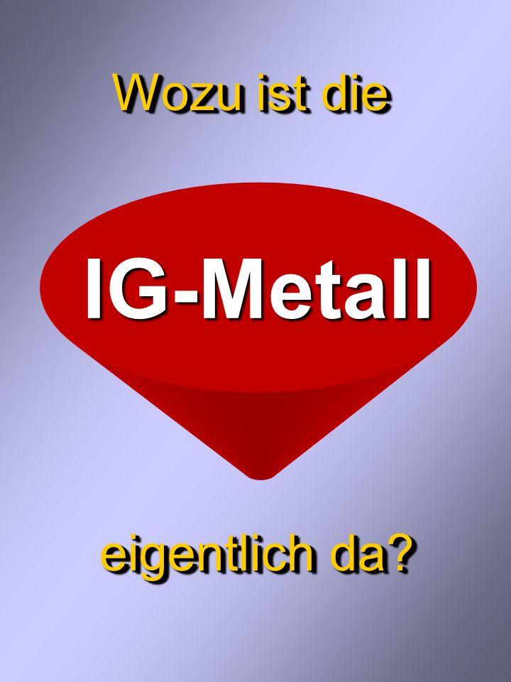 Das bietet die IG Metall...an tariflichem Schutz Das bietet die IG Metall...