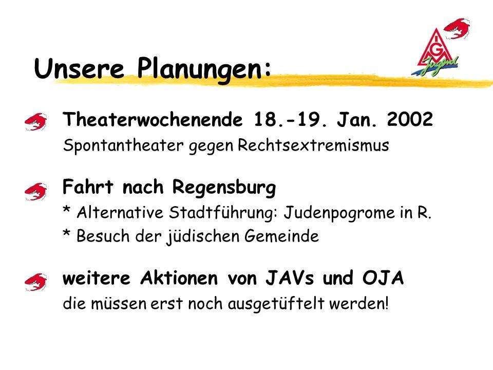 Unsere Planungen: Theaterwochenende 18.-19.Jan.