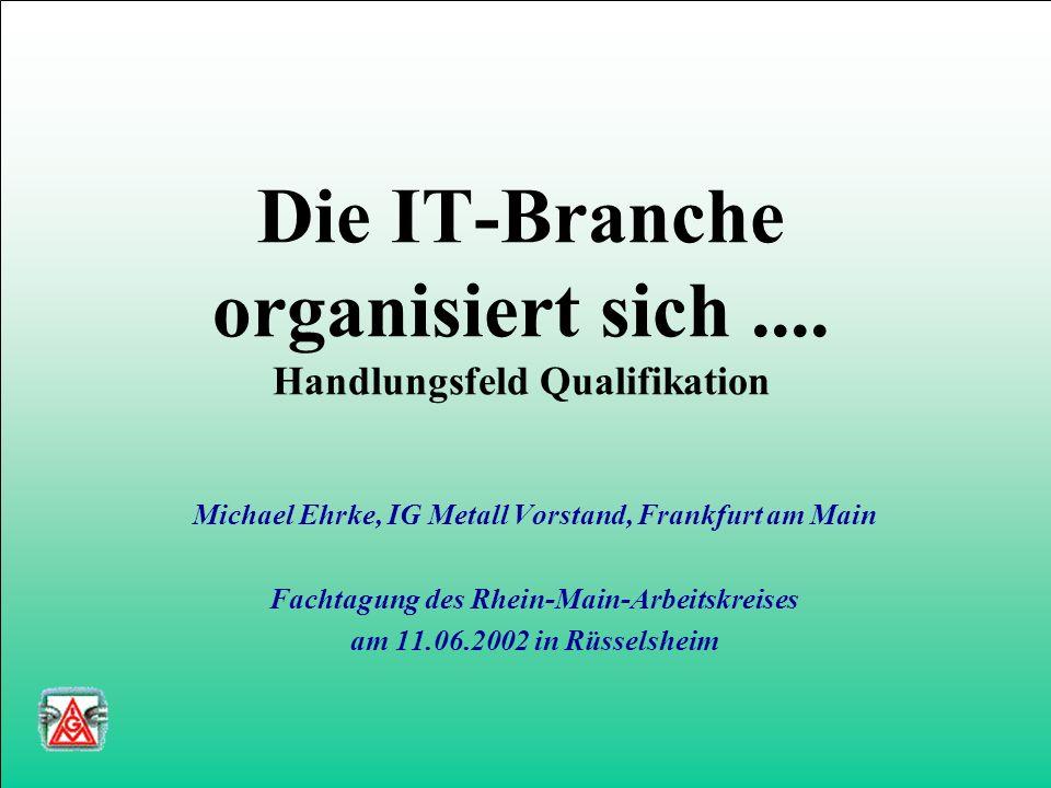 Die IT-Branche organisiert sich....