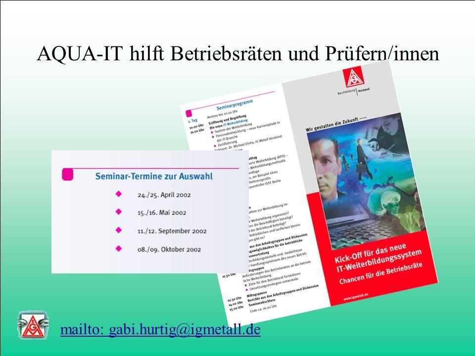 Kompetenzzentrum IT-Bildungsnetzwerke 12 mailto: info@kib-net.de