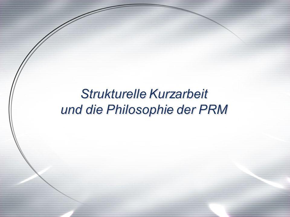Strukturelle Kurzarbeit und die Philosophie der PRM Strukturelle Kurzarbeit und die Philosophie der PRM