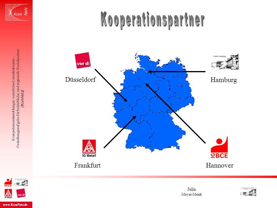 Hamburg Düsseldorf FrankfurtHannover Kompetenzentwicklung in vernetzten Lernstrukturen - Gestaltungsaufgabe für betriebliche und regionale Sozialpartn