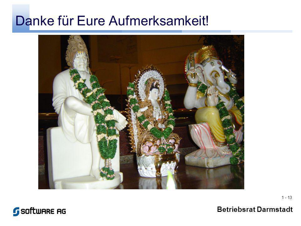 1 - 13 Betriebsrat Darmstadt Danke für Eure Aufmerksamkeit!