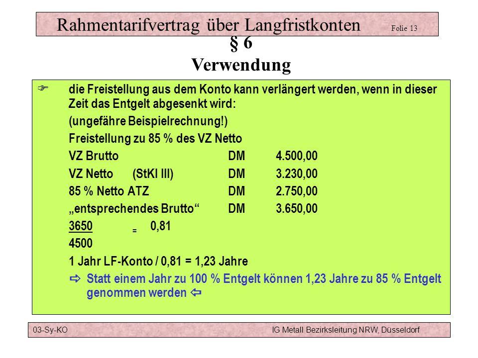 Modell b) :4 Jahre Altersteilzeit TVATZBeginn Arbeitsphase 55 Ende Arbeitsphase57 RTVLF1 Jahr aus Langfristkonto Beginn der Freistellung57 Ende der Fr