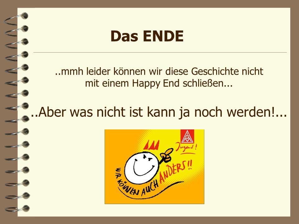 Das ENDE..mmh leider können wir diese Geschichte nicht mit einem Happy End schließen.....Aber was nicht ist kann ja noch werden!...