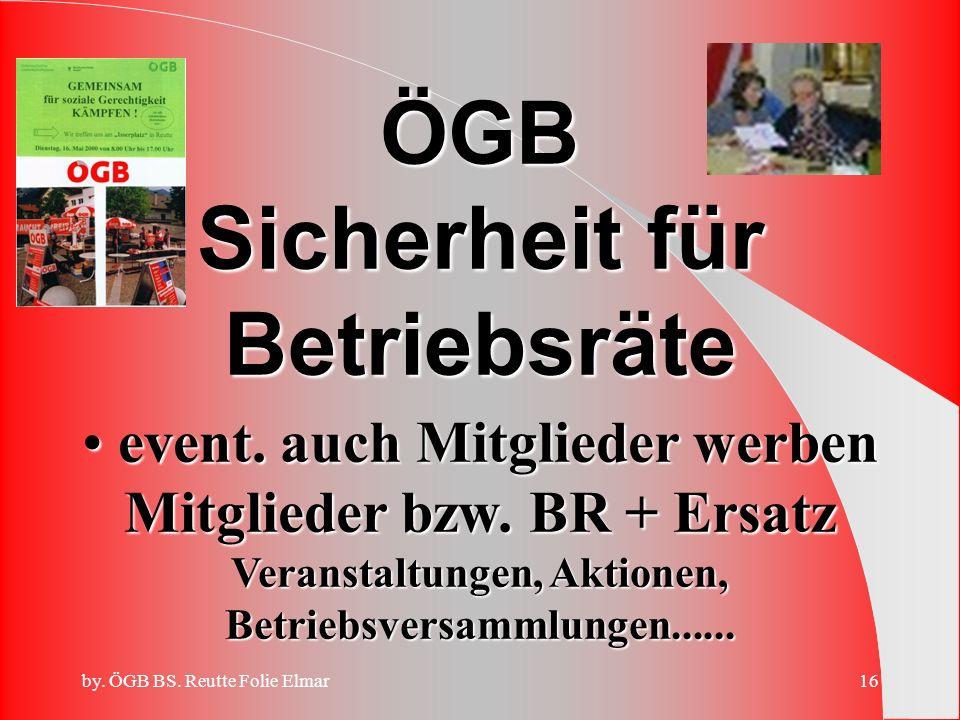 by. ÖGB BS. Reutte Folie Elmar15 Treffpunkte ÖGB Werbeteams Folie Elmar, Schneider Gerhard Krebs Edgar, Berktold Walter Willi Lechleitner, Schmid Frie