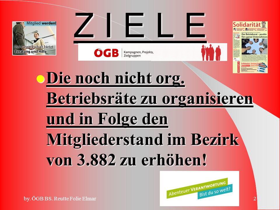 by.ÖGB BS. Reutte Folie Elmar2 Z I E L E l Die noch nicht org.