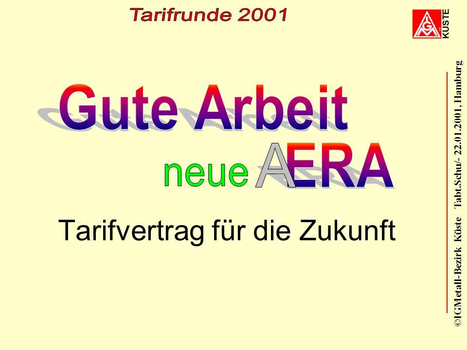 ©IGMetall-Bezirk Küste Tabt.Schu/- 22.01.2001, Hamburg Tarifvertrag für die Zukunft