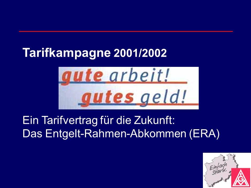 Tarifkampagne 2001/2002 Ein Tarifvertrag für die Zukunft: Das Entgelt-Rahmen-Abkommen (ERA)