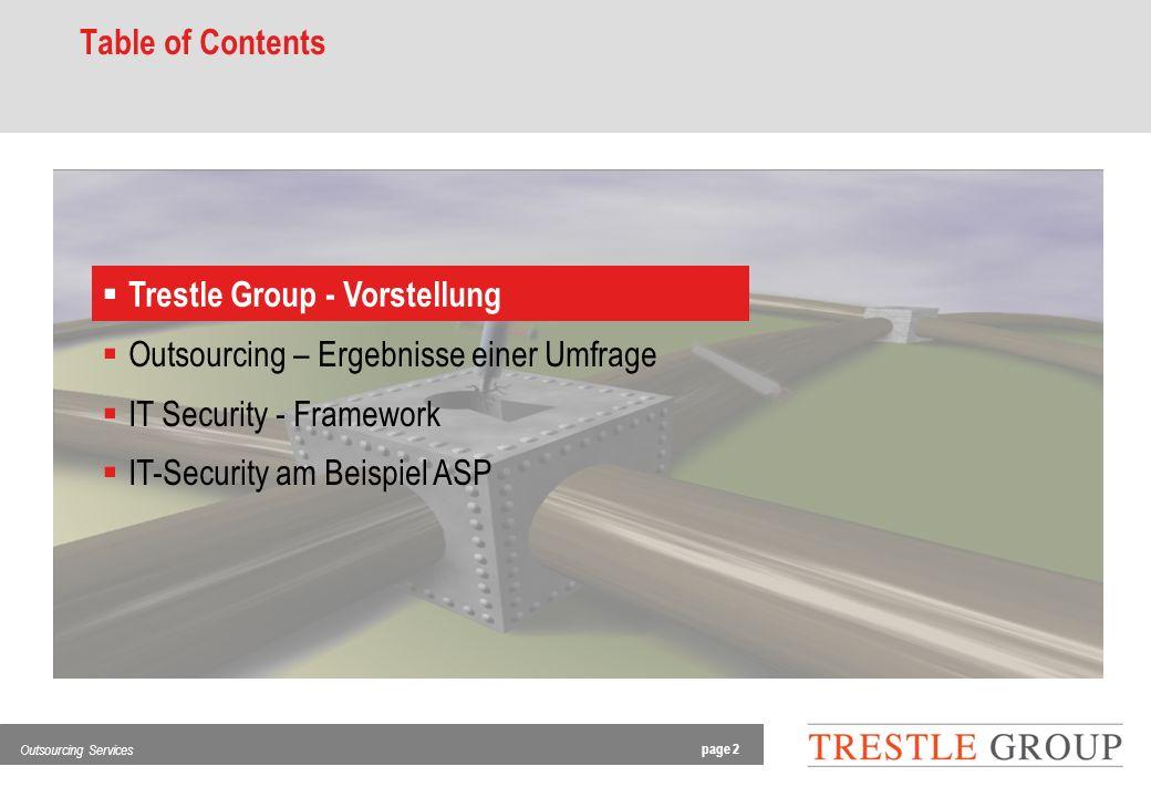 page 3 Outsourcing Services Trestle Group - Vorstellung Service: Fokus auf Offshore Outsourcing Aktivitäten.