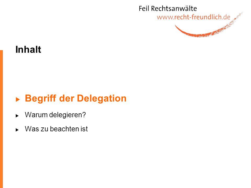 Delegation von Aufgaben Aufgabendelegation beschreibt den Prozess der Aufgabenübertragung durch eine Führungskraft auf einen Mitarbeiter.