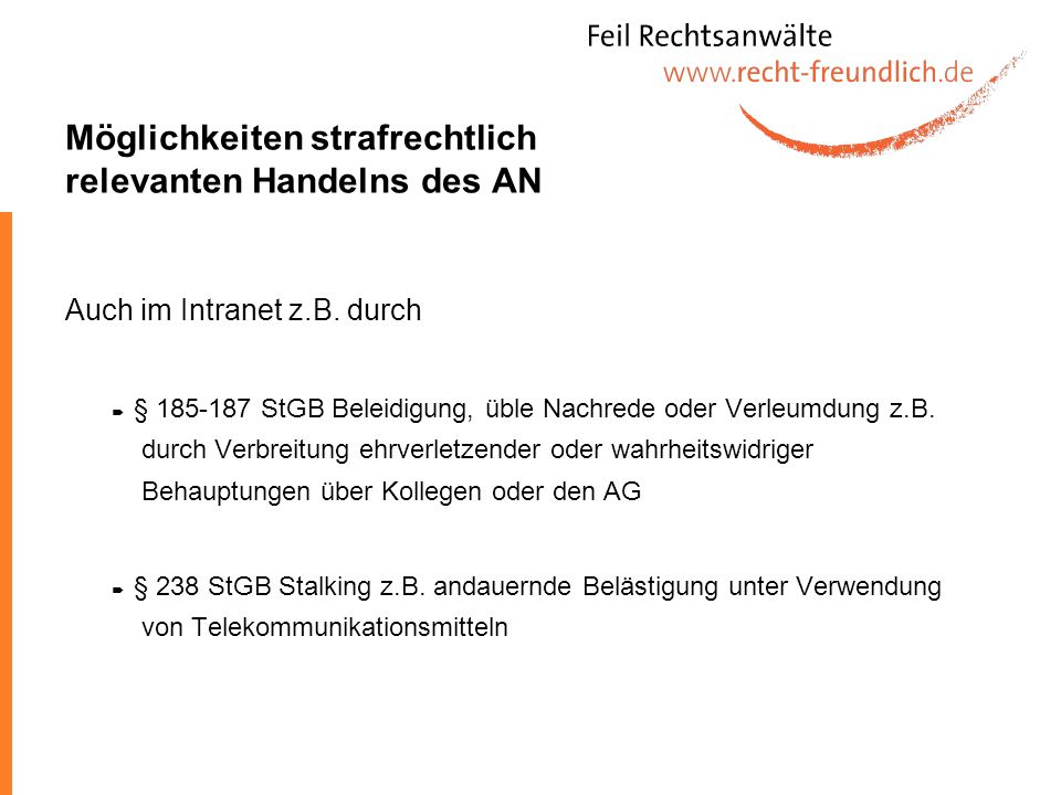 …und noch einmal die Rechtsprechung Urteil des AG Hannover vom 28.04.2005 (10 Ca 791/04) Das unaufgeforderte Weiterleiten von Dateien mit pornographischem Inhalt im Intranet an Dritte erfüllt den Straftatbestande von § 184 Abs 1 Nr 6 StGB.§ 184 Abs 1 Nr 6 StGB Eine strafbare Handlung durch Datenmissbrauch ist eine so schwerwiegende Vertragsverletzung, dass sie einen Grund für eine Beendigungskündigung darstellt.