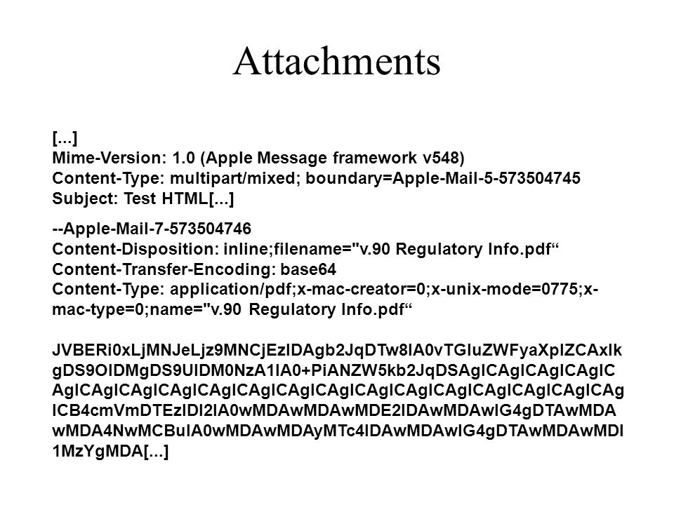 Attachments [...] Mime-Version: 1.0 (Apple Message framework v548) Content-Type: multipart/mixed; boundary=Apple-Mail-5-573504745 Subject: Test HTML[.