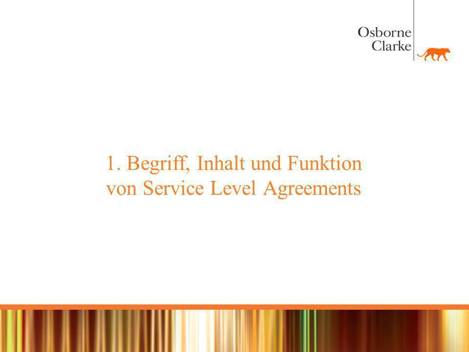Beispiel - Service Level Agreement (Stichpunkte) Peripherie z.B.