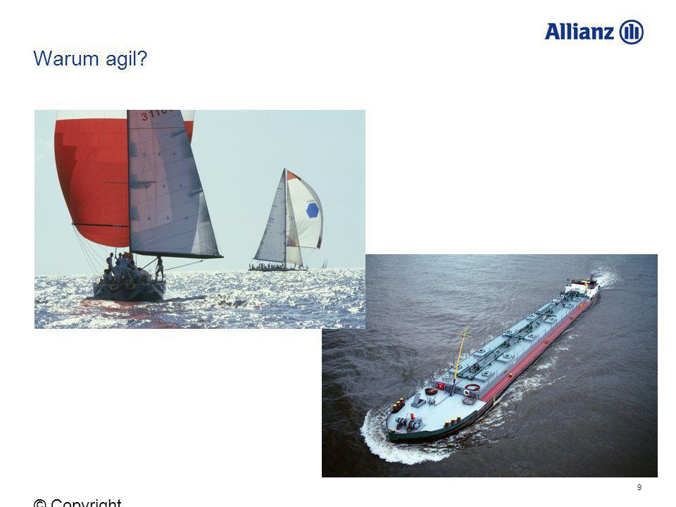 10 © Copyright Allianz 05.03.2012 In welchen Fällen eignet sich agiles Vorgehen.