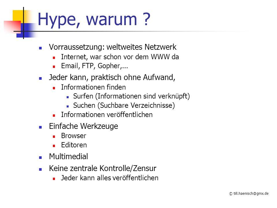 © till.haenisch@gmx.de Parameter Wie erhält z.B.
