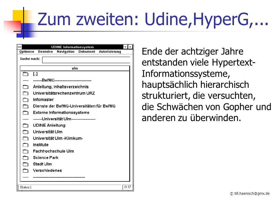 © till.haenisch@gmx.de HTML Ursprünglich nur zur Strukturierung gedacht heute auch zur Formatierung da keine Positionierung,...